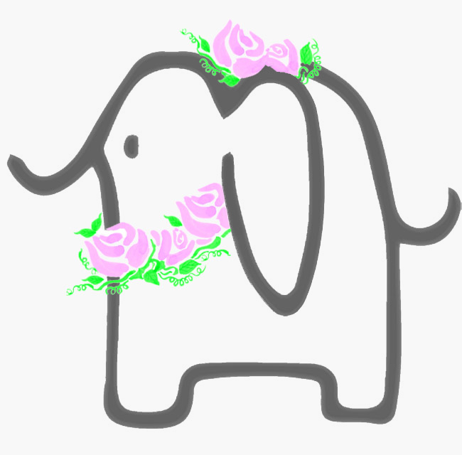 Norsu  means elephant in Finnish. Decked out in summer flowers.