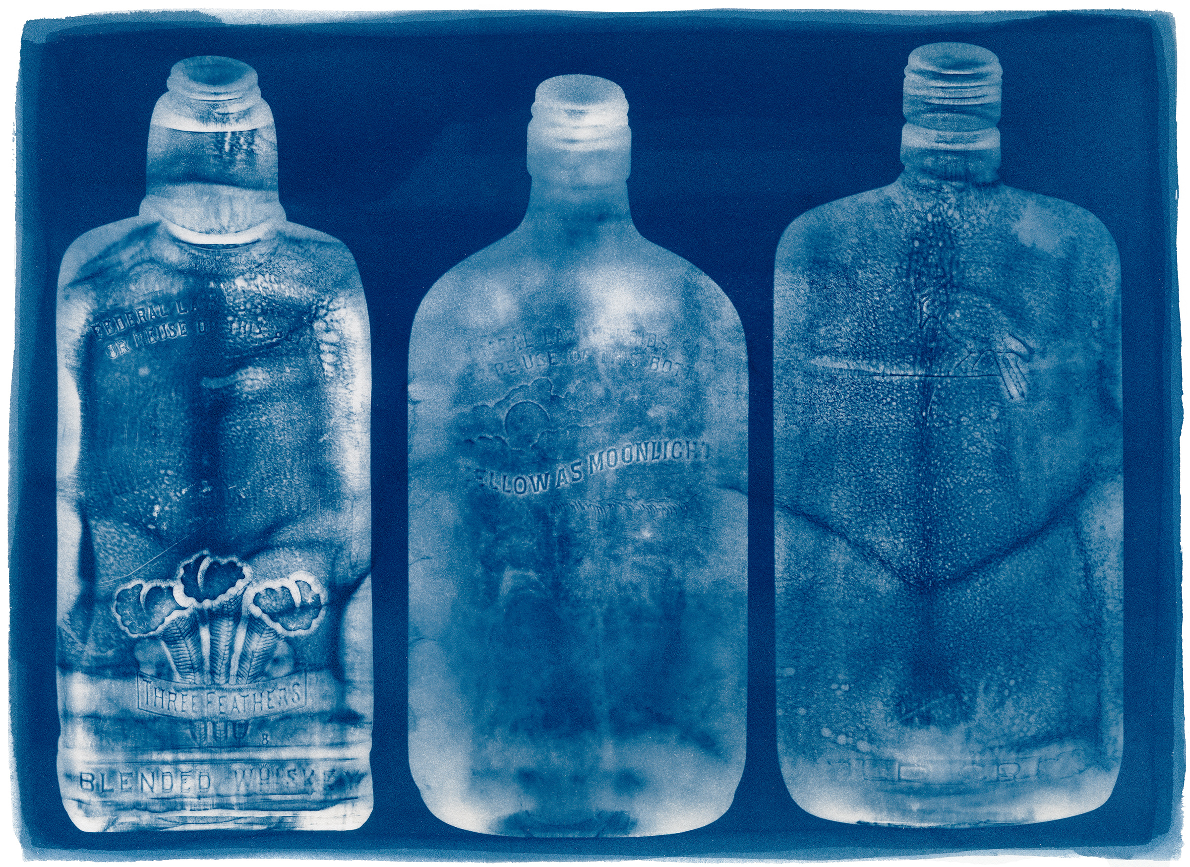 Three Whiskey Bottles, 2015