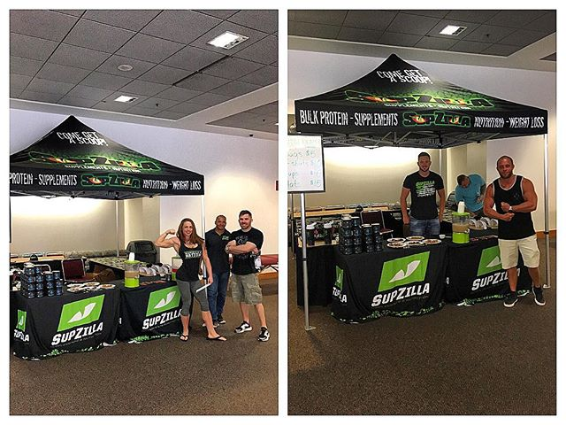 "SupZilla Nation! The SupZilla crew is having a blast at the 2017 NPC Julie Palmer Ultimate Showdown in Dayton, Ohio today! Stop by the booth and say hi if you're in the area, and then check out the main show while you're there! ...""Come get a scoop!"" @beefcakedavies @cedric_supzilla @tyler_supzilla @miss_buffnugget #beastmode #bodybuilding #comegetascoop #family #fit #fitness #fitfam #fitlife #goals #healthy #Indiana #inspiration #lifestyle #motivation #nutrition #Ohio #strength #SupZilla #SupZillaFit #SupZillaHer #SupZillaNation #SupZillafamily #SupZillagreen #SupZillastrong #SupZillatakeover #SupZilla4life #supplements #training #weightloss #workout"