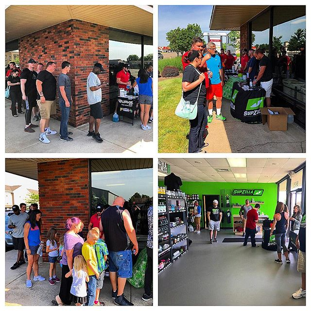 """SupZilla Nation! The Dayton Grand Opening has been a blast so far! We've had a ton of people through the door so far, and we've had a pleasure meeting and talking to you all! We still have a few bags left, and we'll be running the 10% OFF STOREWIDE special til 5pm! If you're in the area or want to make the drive to Dayton, it will definitely be worth your while! ...""""Come get a scoop!"""" @cedric_supzilla @tyler_supzilla @ankrom_supzilla #beastmode #bodybuilding #comegetascoop #family #fit #fitness #fitfam #fitlife #goals #healthy #Indiana #inspiration #lifestyle #motivation #nutrition #Ohio #strength #SupZilla #SupZillaFit #SupZillaHer #SupZillaNation #SupZillafamily #SupZillagreen #SupZillastrong #SupZillatakeover #SupZilla4life #supplements #training #weightloss #workout"""