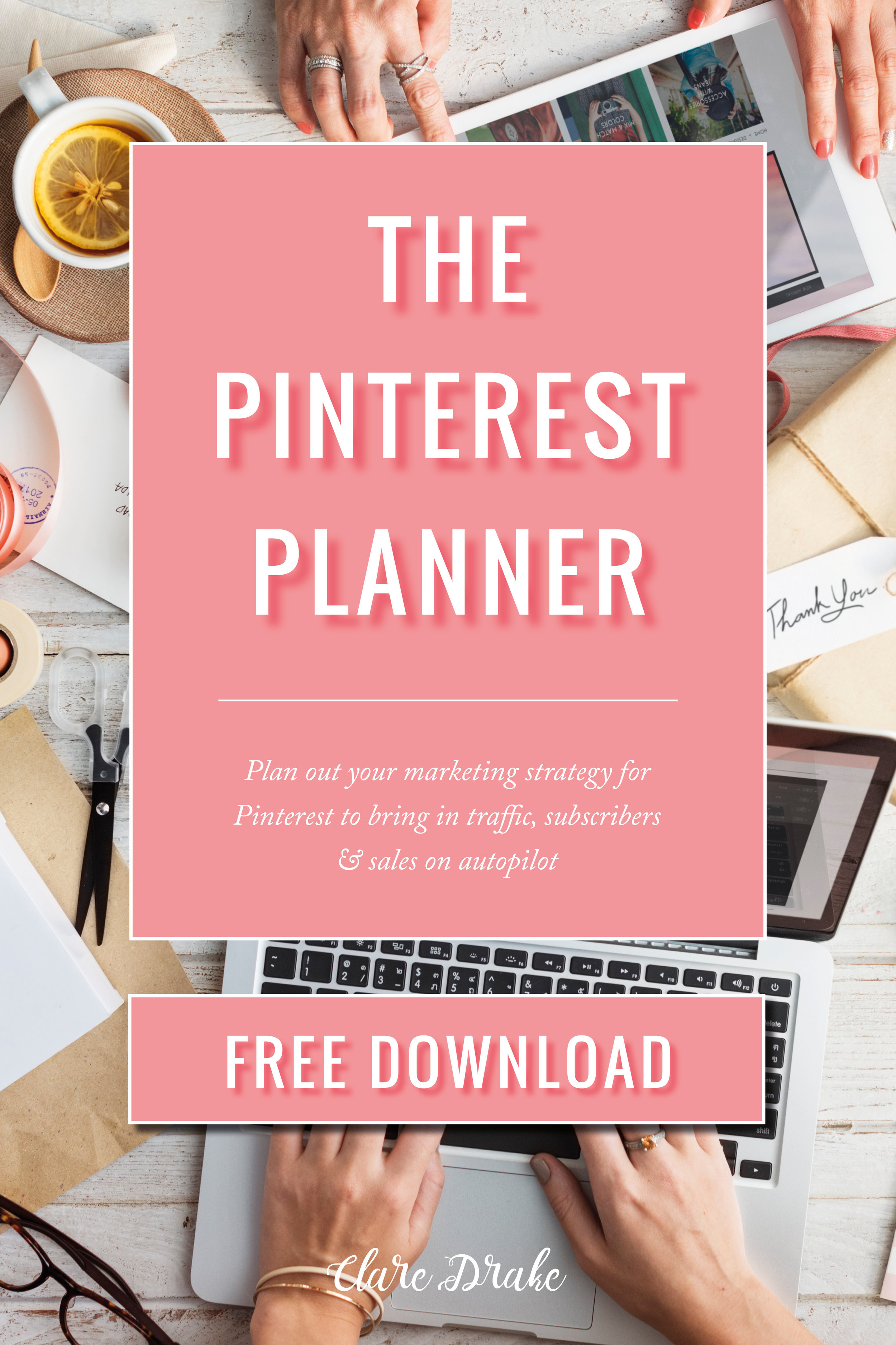 Pinterest Planner [FREE DOWNLOAD] via @claredrake1