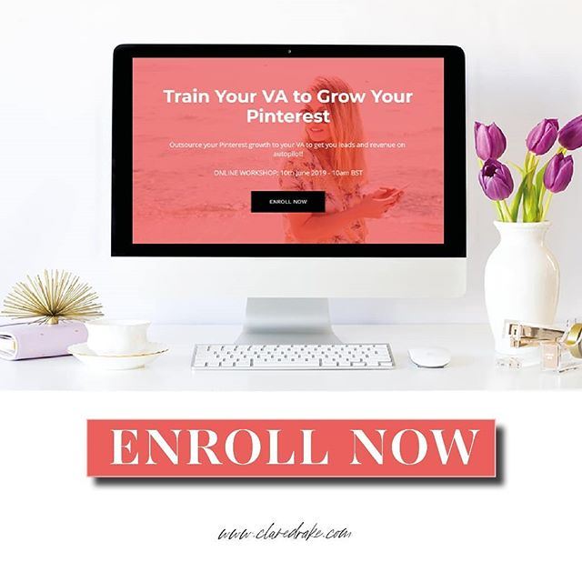 "Ready to train your VA to grow your Pinterest?? My online workshop is now open for enrollment! ❤ . You know I talk alot about Pinterest and the fact that it takes time to see results - so you need to have patience! . It's a platform where you you'll still see leads coming in months and years from now. . However I wanted to share with you how soon you can ACTUALLY see sales from Pinterest if you apply the strategies you'll learn in this workshop! . Lisa @smileycoach implemented just a few of the strategies you'll learn in this workshop and these are the wonderful results she's seen in a very short space of time! . ""In two weeks I've made nearly £100 in online sales by doing what you said""! . ""I made a sale! Pinterest is working for me. Thank you for all your wisdom!"" . ""I made another sale! I sold a course for £55!"" . Results like these from Lisa make me so happy because it shows you that not only can Pinterest work for your business long-term, but you can also see results in a matter of days! 🙌 . Enrollment is open for another 12 hours! . Sign up now at bit.ly/TrainVAPinterest or via the link in my bio! . Do shoot me over a DM if you have any questions!"