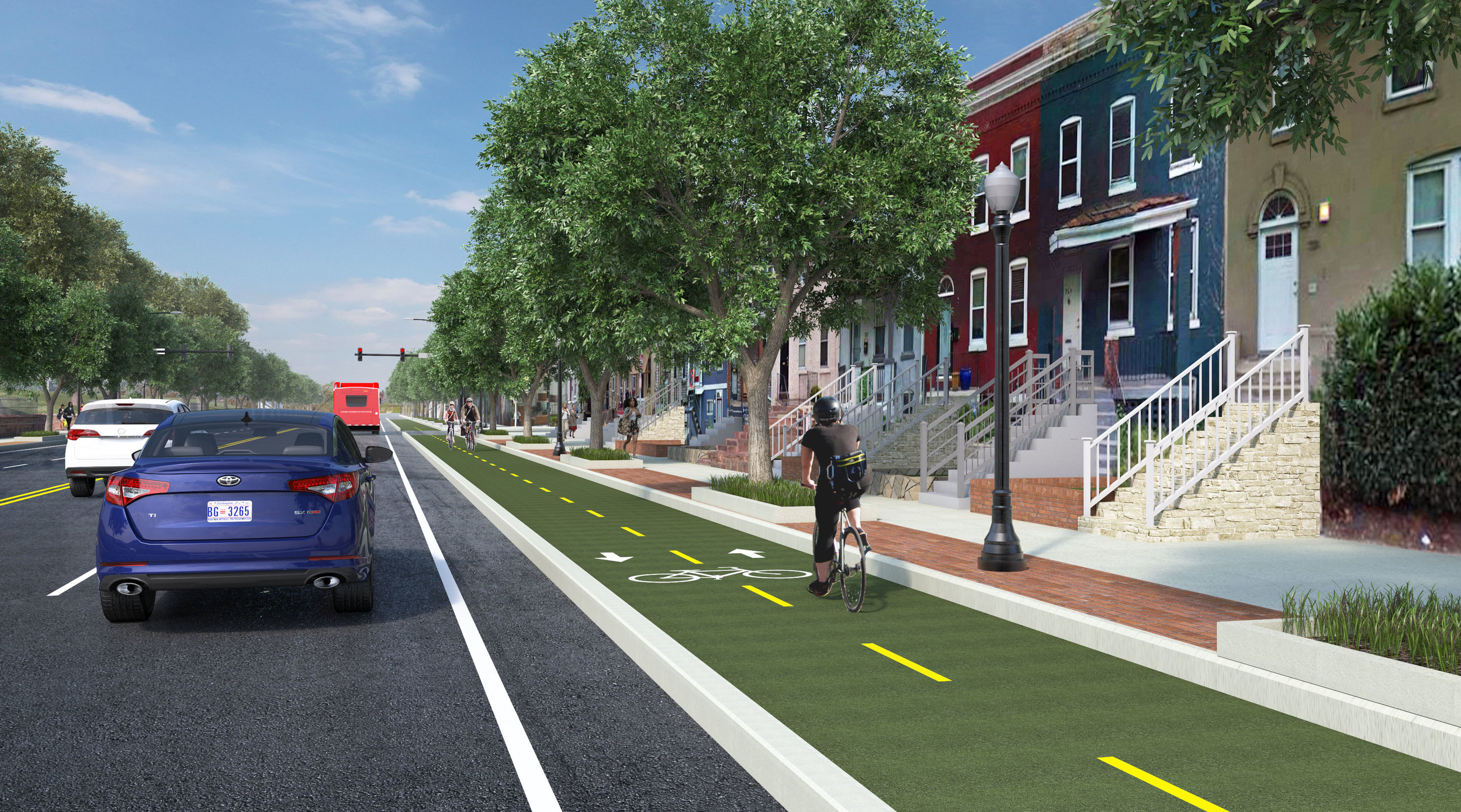 Florida Avenue, NE Multimodal Transportation Project 3D Rendering