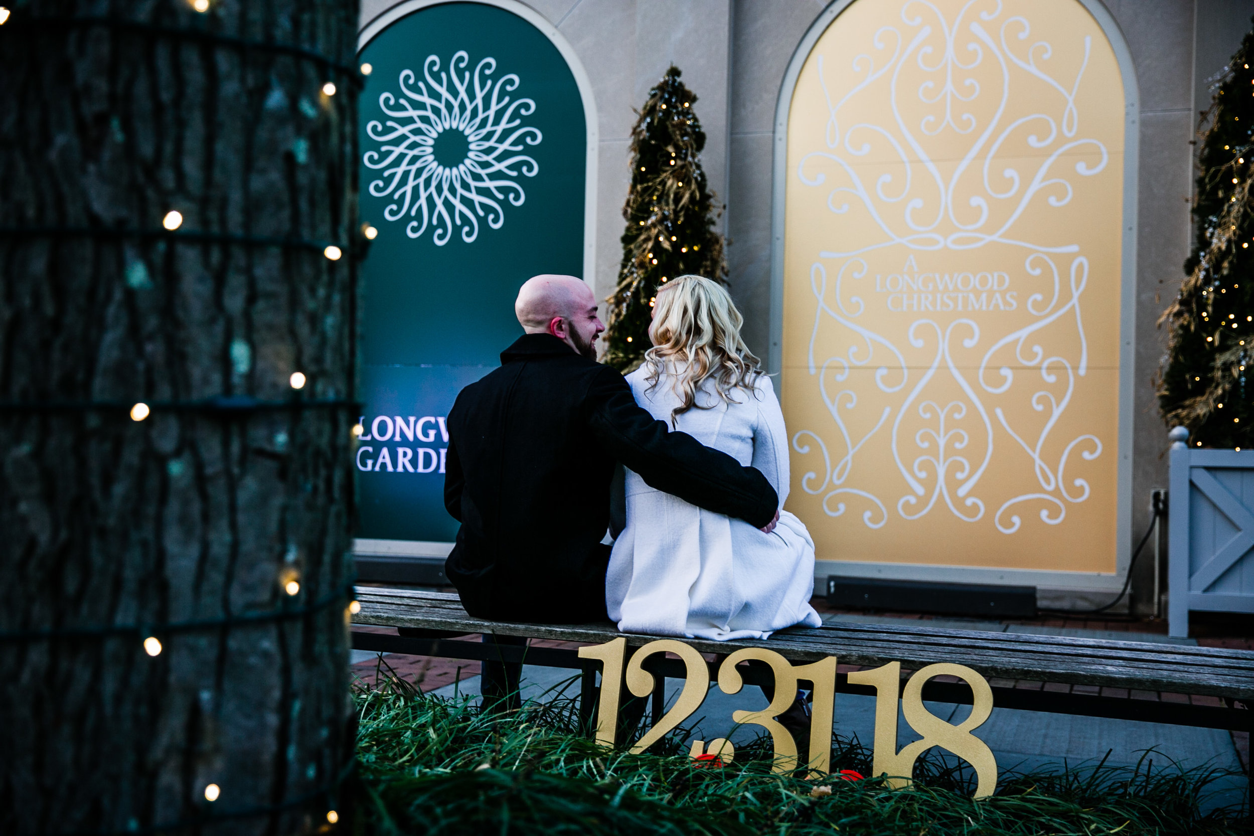 Longwood Garden Christmas Engagement Shoot -006.jpg