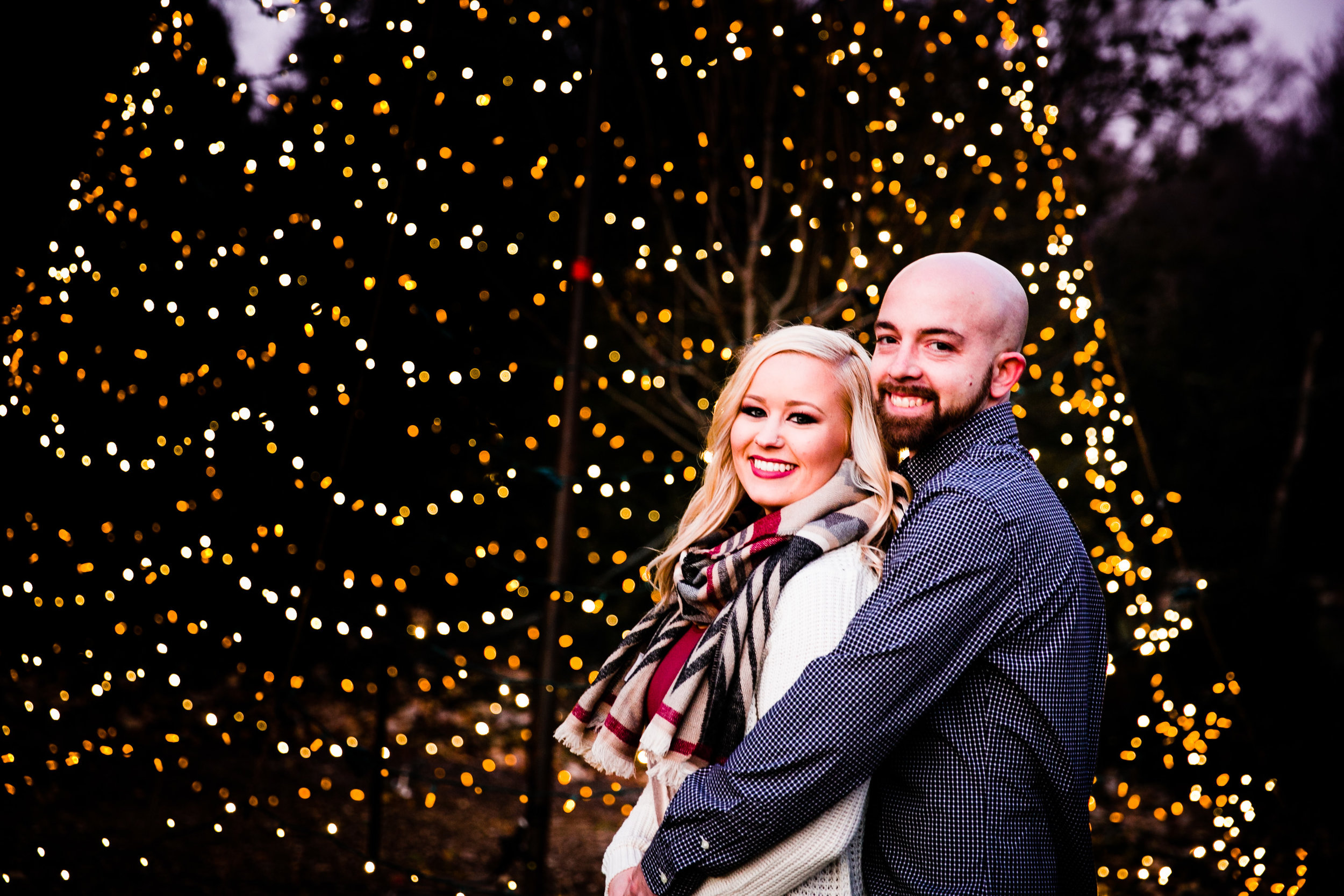 Longwood Garden Christmas Engagement Shoot -008.jpg