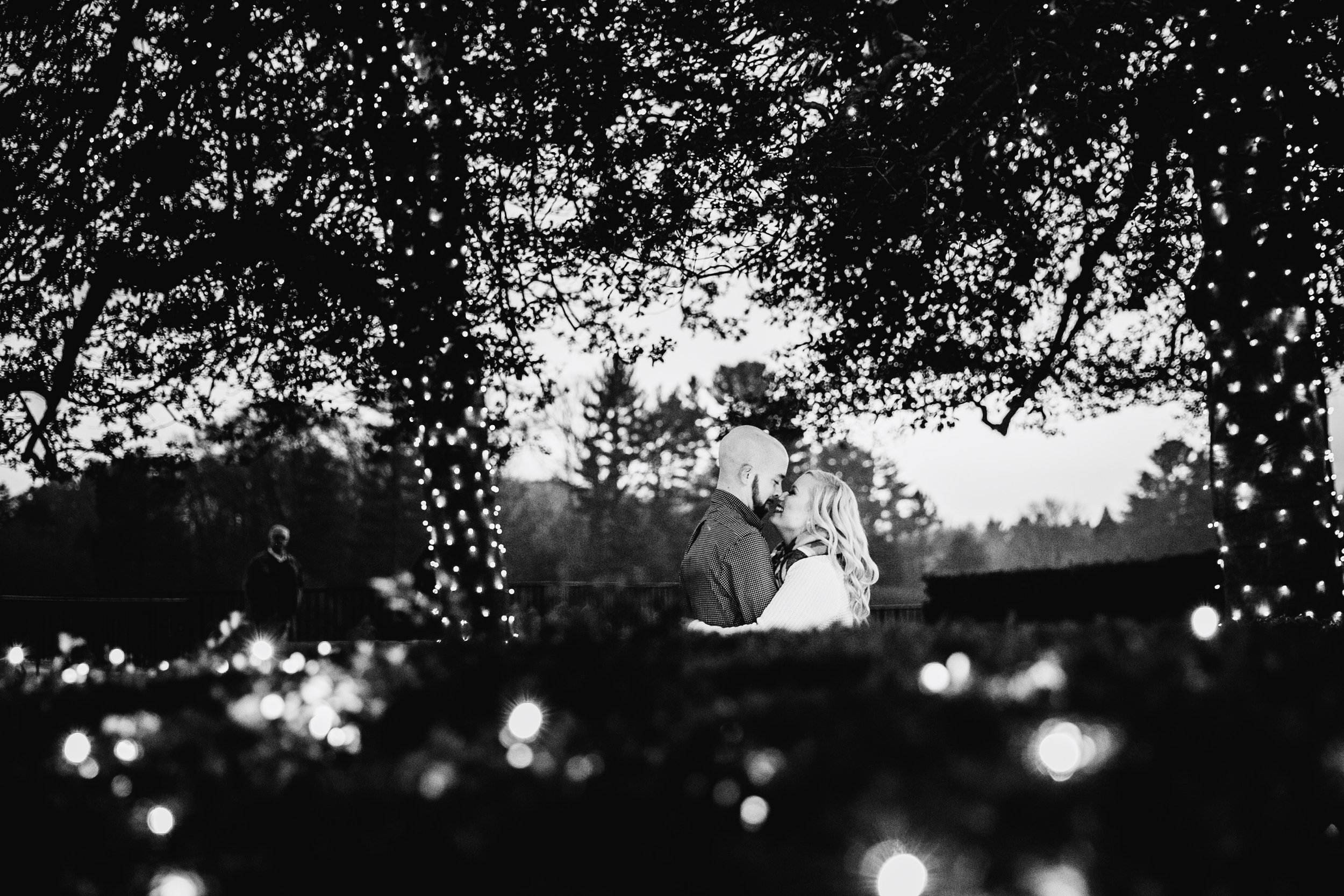Longwood Garden Christmas Engagement Shoot -011.jpg