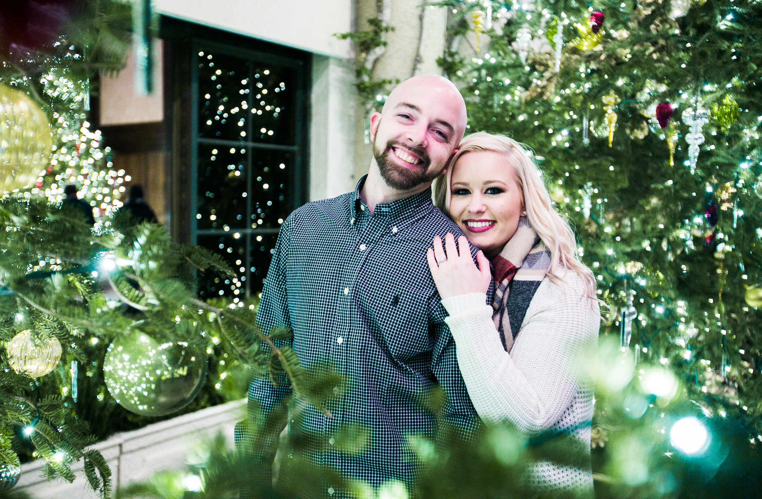 Longwood Garden Christmas Engagement Shoot -015.jpg