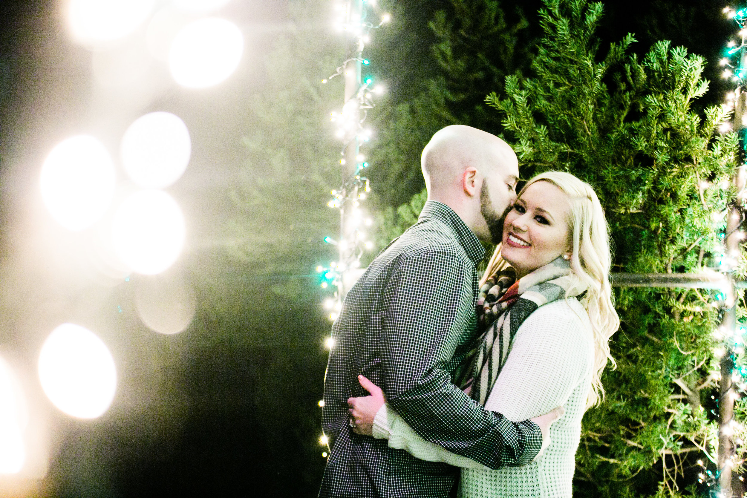 Longwood Garden Christmas Engagement Shoot -018.jpg