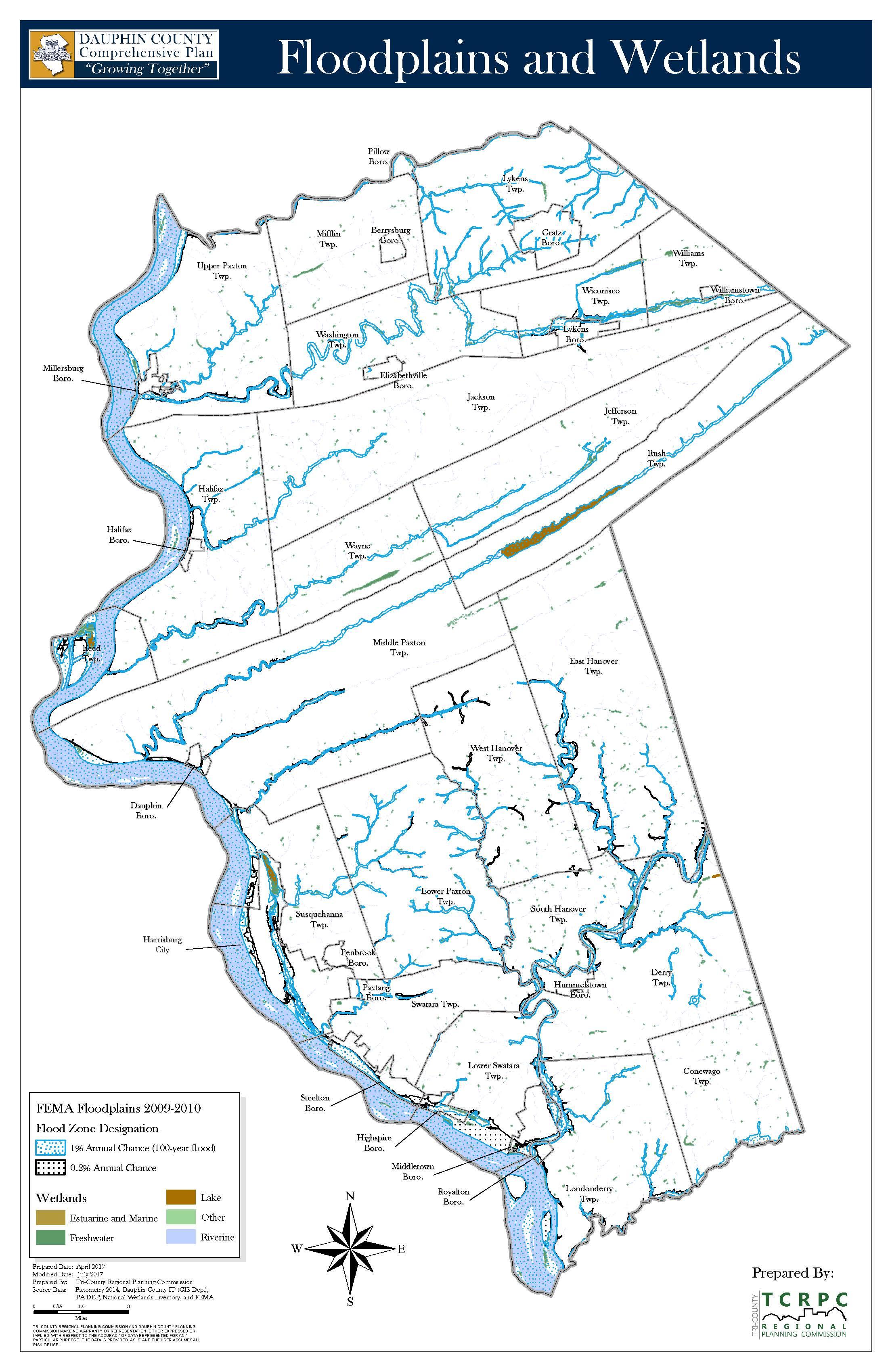 Floodplains & Wetlands   Click for interactive map