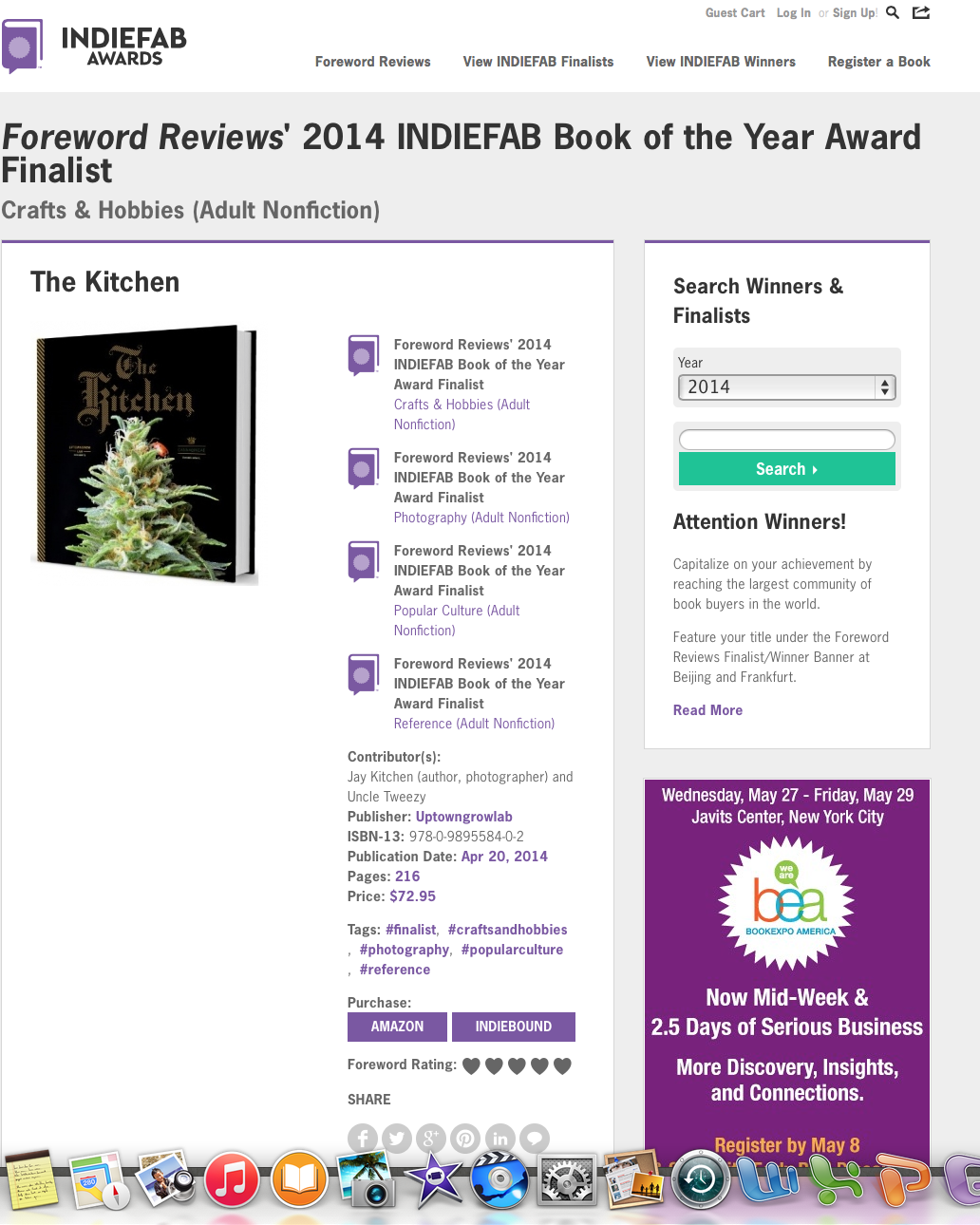 Foreward Revew's 2014 INDIEFAB BOOK OF THE YEAR FINALIST