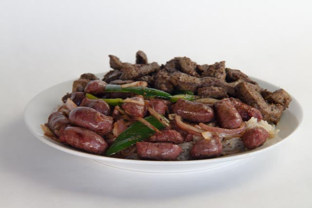 Authentic Alexandrian AAA beef liver & sausage. Your taste buds are in for a treat!