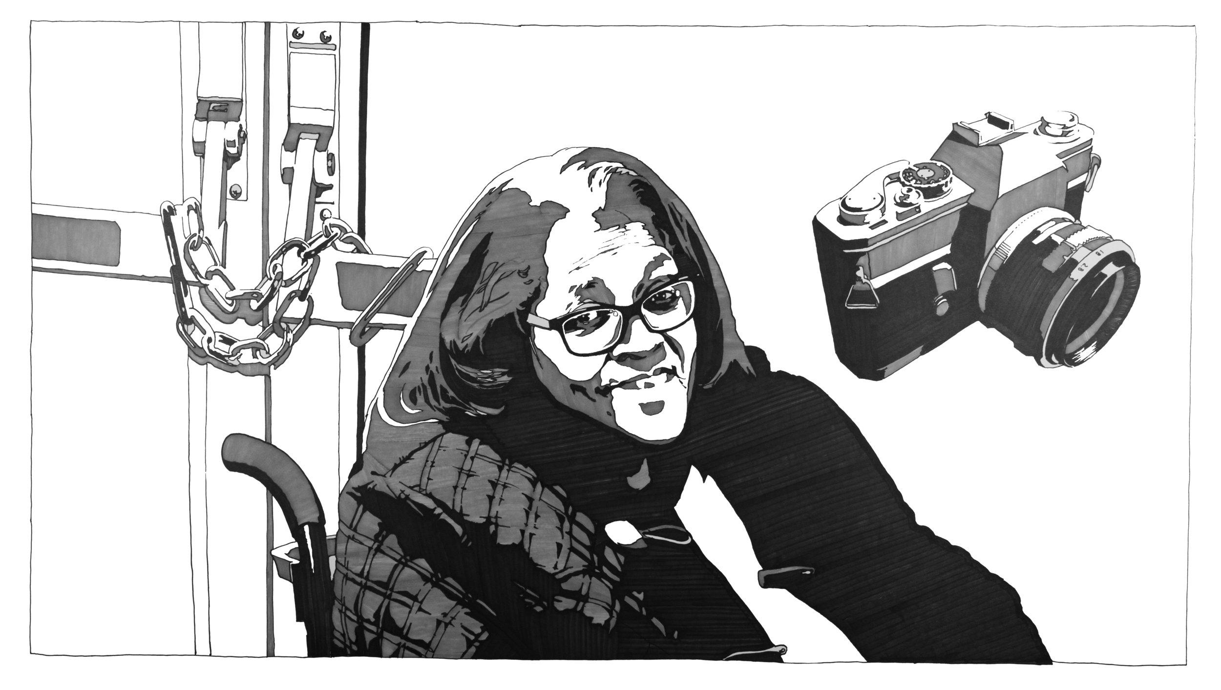 Vicky Garner. Portrait by Henry Luke. Vicky Garner has lived in the Central District since 1960.