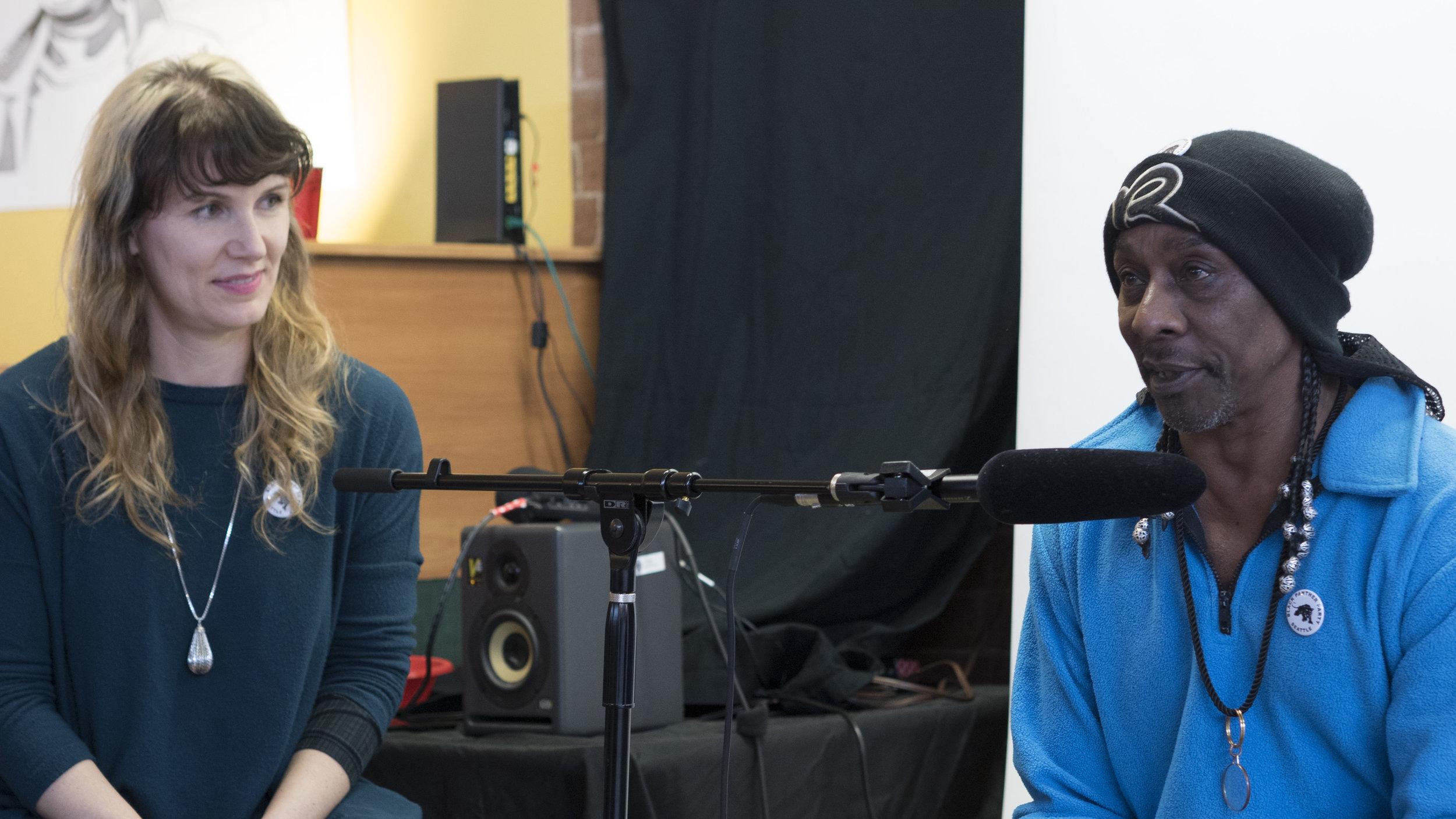 Rachel Kessler interviews Robbie Hill at the Shelf Life Open House