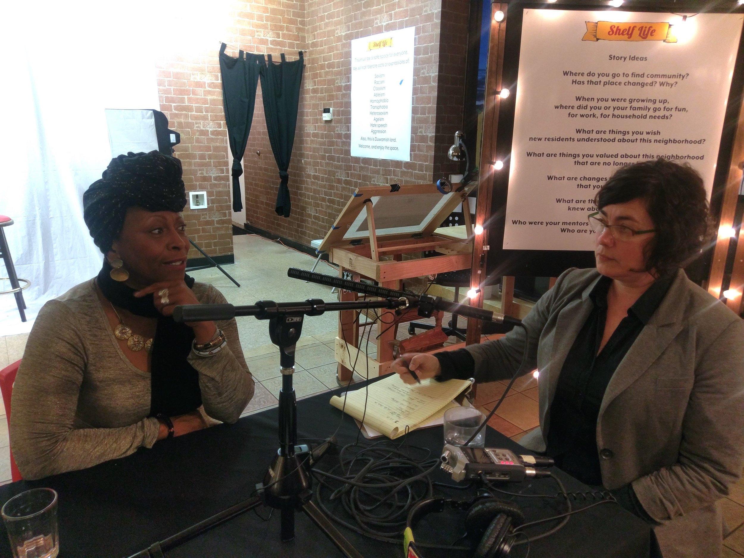Interviewing Vivian Phillips at Shelf Life.jpg
