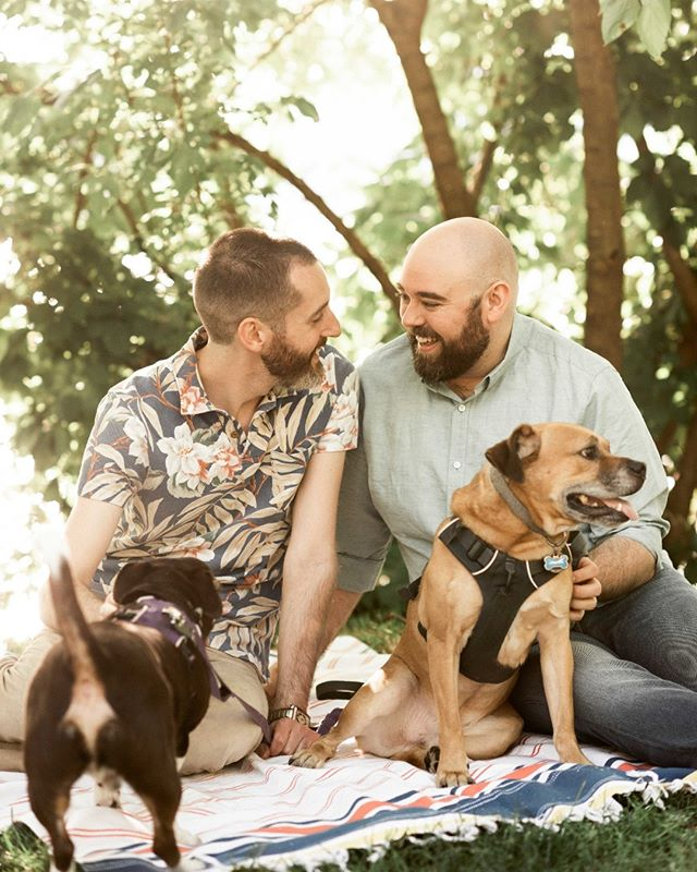 what's a couple's shoot without your dogs?