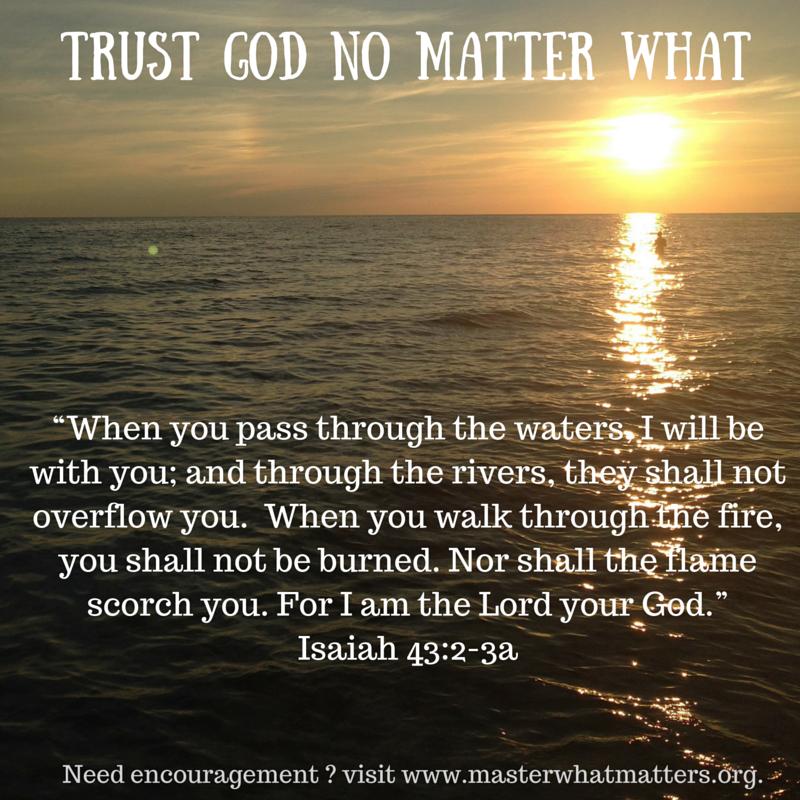 Trust God No Matter What