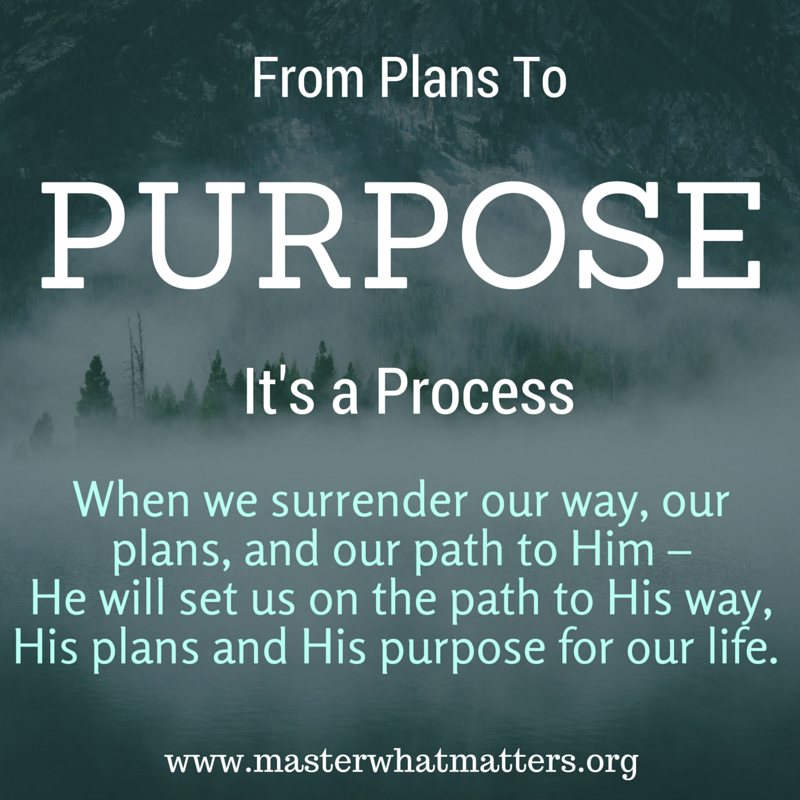 From Plans to Purpose, It's a Process