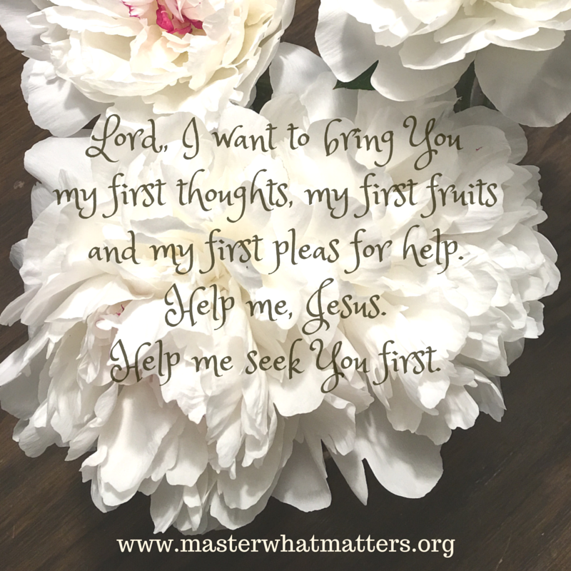 God Wants Our Firsts