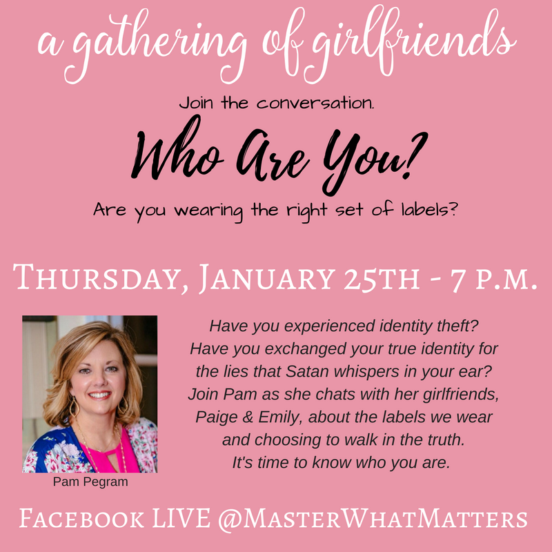 You are invited! - Join us Thursday, 1/25 at 7 p.m. CST We will be LIVE on the Master What Matters FB Page.