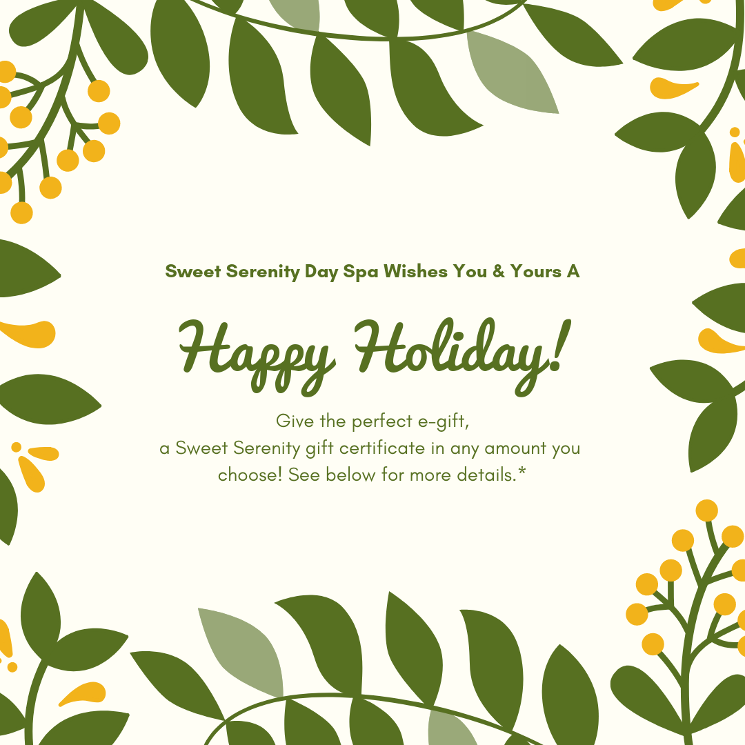 Sweet Serenity Day Spa E-Gift cards.
