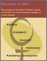 Brochure for the Status of Women Council for the NWT