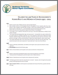 Women and Human Rights - Therese Boullard A Chronology of Human Rights
