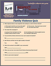 Family Violence Awareness Quiz