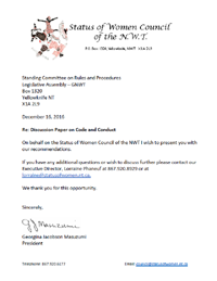 MLA Code of Conduct Submission