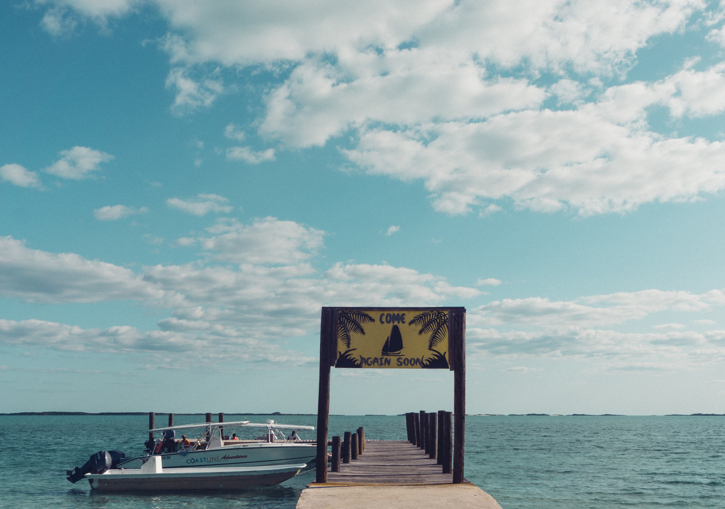 The dock to the boat