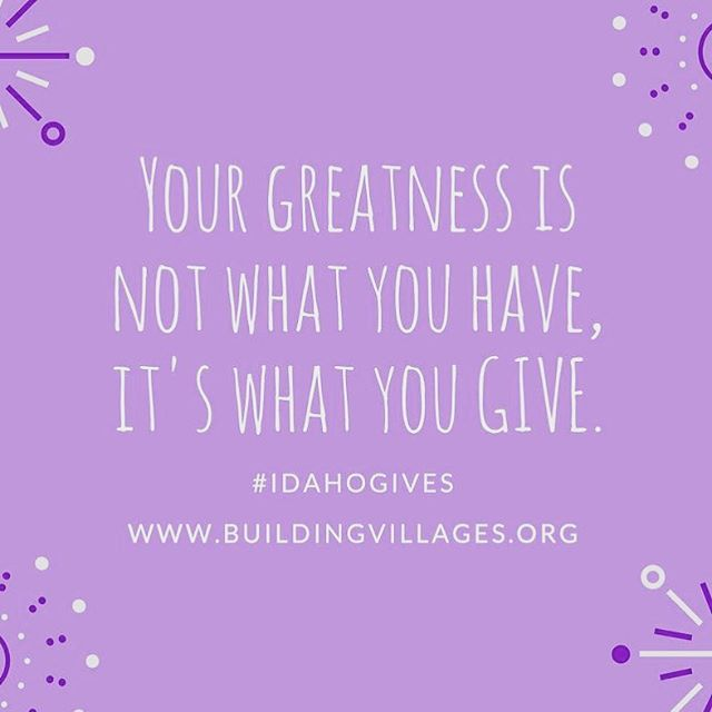 Today is the day! @idahogives is a statewide day of giving! We hope you will join Building Villages in creating community and support for parents by choosing to give to our organization today. We can't do this work without you! #idahogives #buildingvillages #buildyourvillage #parenthood #parentlife #boisemoms