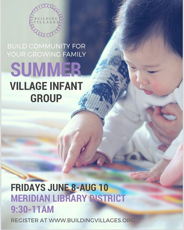 Friday morning infant groups start this week at the @meridianlibrary! Join us! #buildyourvillage #buildingvillages #parentlife #parenthood #meridianlibrarydistrict