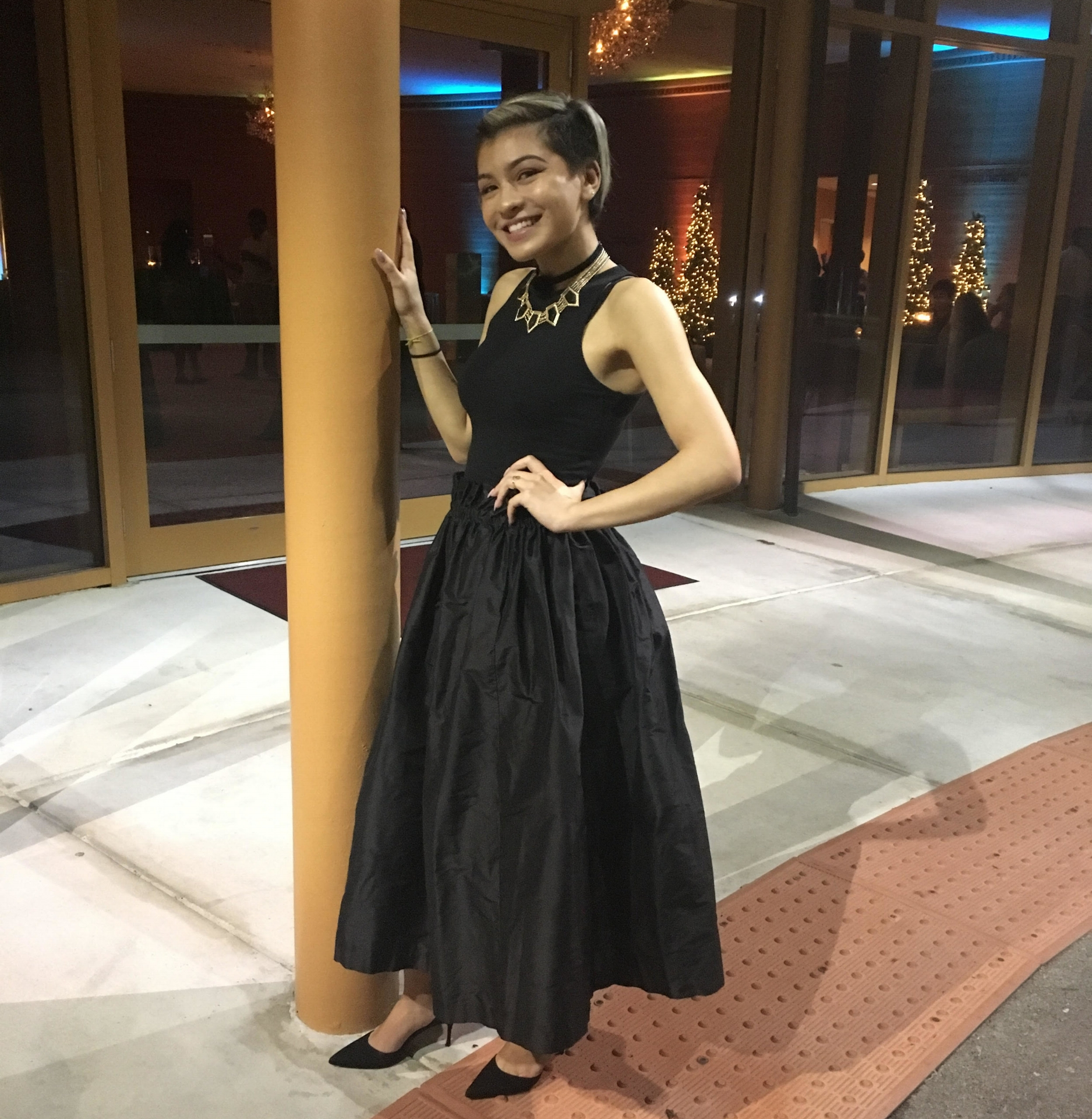 "- Kristen""I love my Seta Skirt because it goes with absolutely everything! I wore it for an event and found that my only problem that night was figuring out which top looked best with it. It has become my go-to piece for nearly any occasion, whether that be a fancy gala or brunch with friends :) ""."