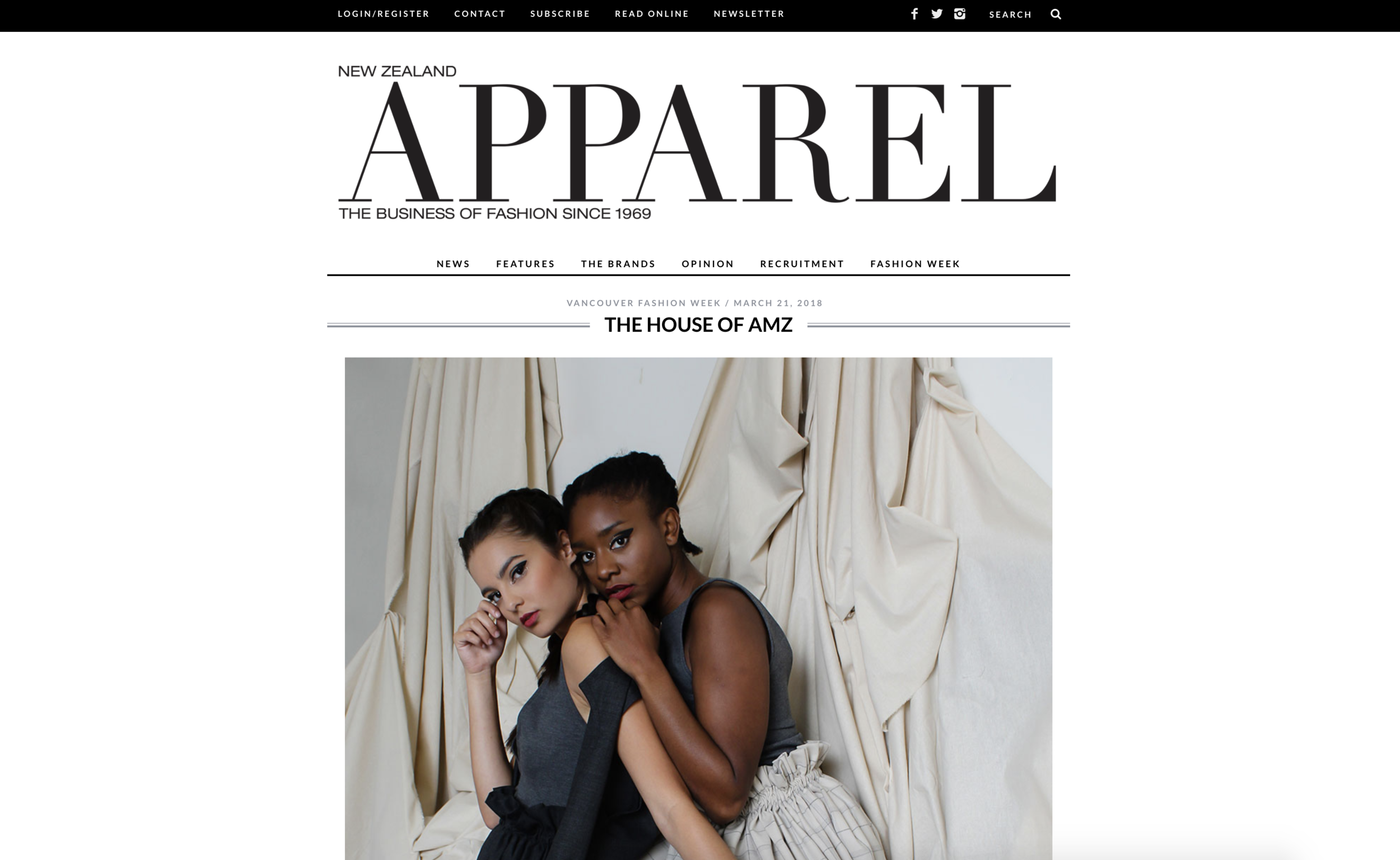 - Vancouver Fashion Week   The house of AMZNew Zealand Apparel Magazine