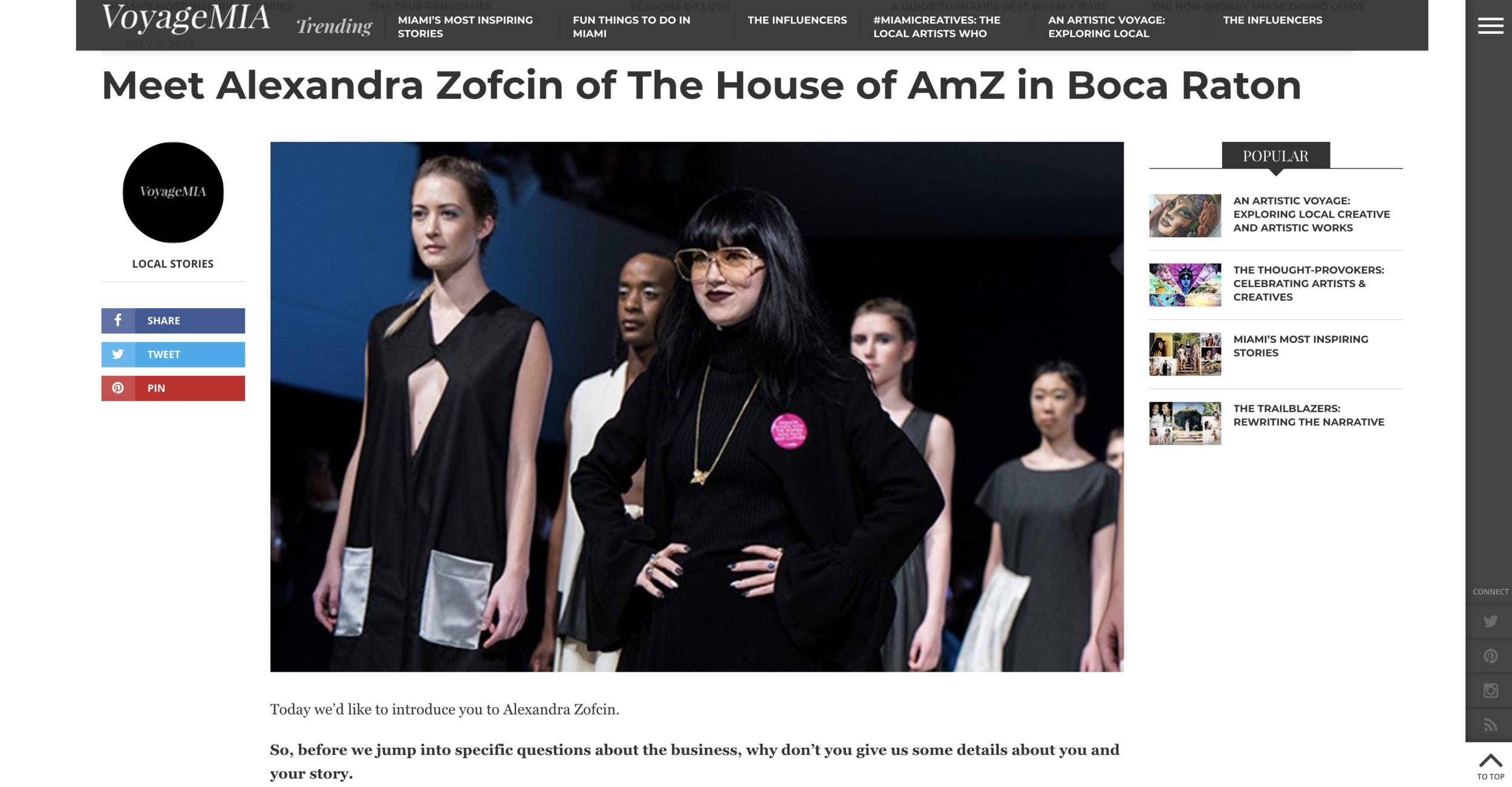Meet Alexandra Zofcin of The House of AmZ in Boca Raton | VoyageMIA