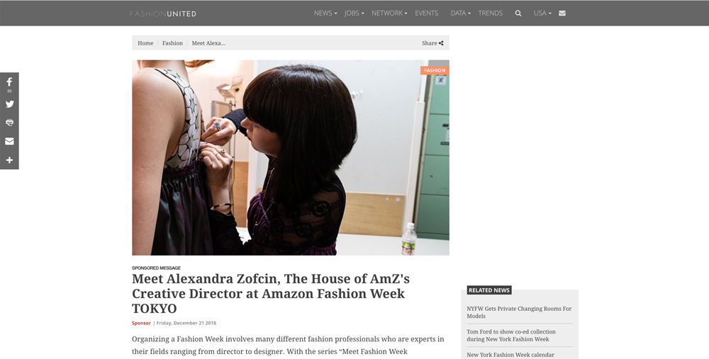 Meet Alexandra Zofcin, The House of AmZ's Creative Director at Amazon Fashion Week TOKYO | Fashion United