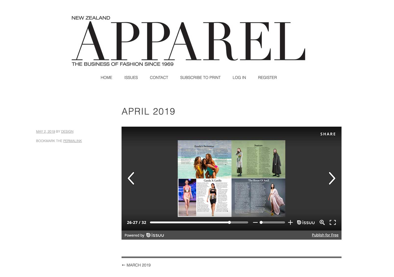 New Zealand Apparel | April 2019