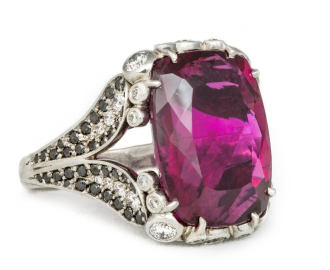 Haute Bijoux Red Oro Fino Tourmaline Ring