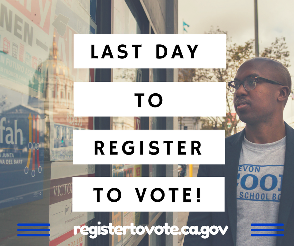 Don't miss out on this election! Tell your friends, family and colleagues: every vote counts. Register and vote  #sc4sb .