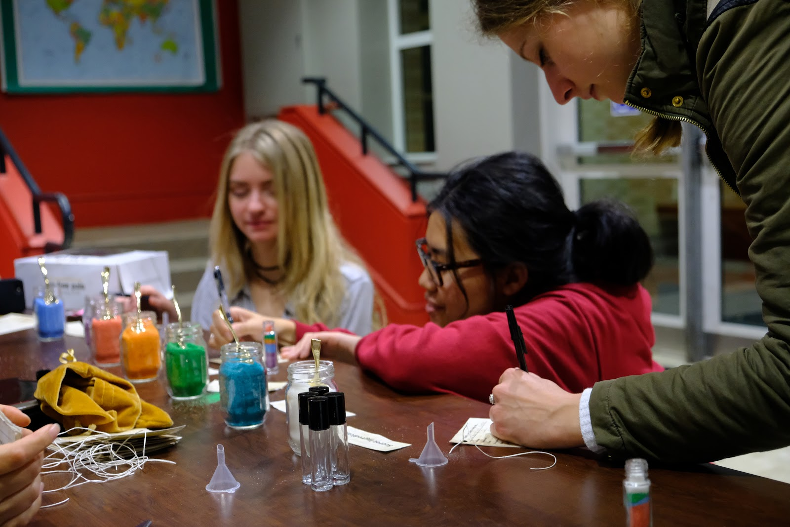 Participants of the Personalized Potions creating their own potions.