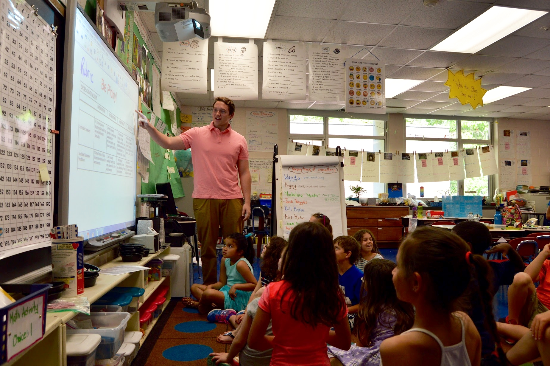 Dylan Miles teaching his second grade class at   East School  .