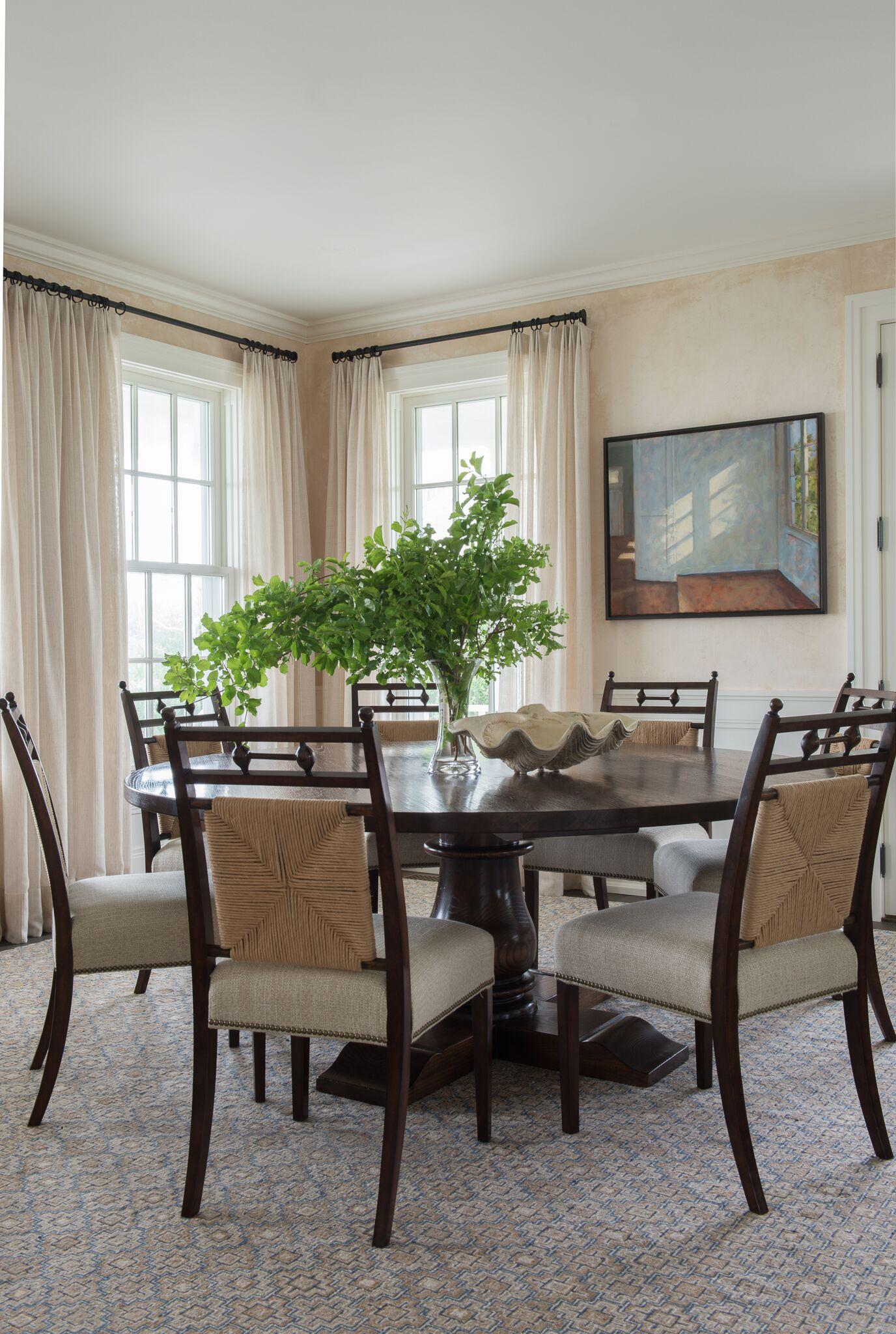 5. LOWER THE ARTWORK •  Interiors: Nantucket House Antiques and Interior Design Studios, Inc.