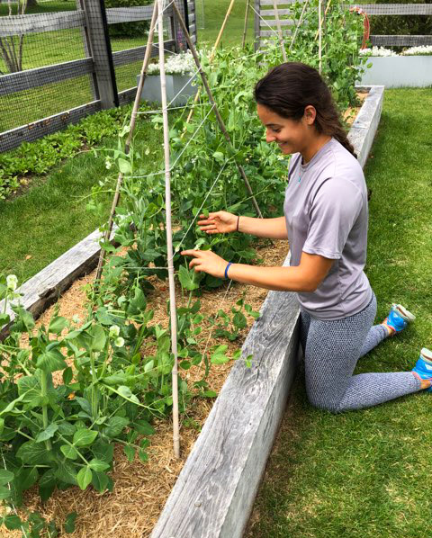 Karlie Bucci working at Grace Farms in New Canaan. Photo By Zach Fishman