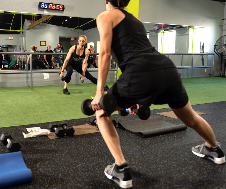 AAY Fitness Trainer and Coach Elaine Demo Lunge Side