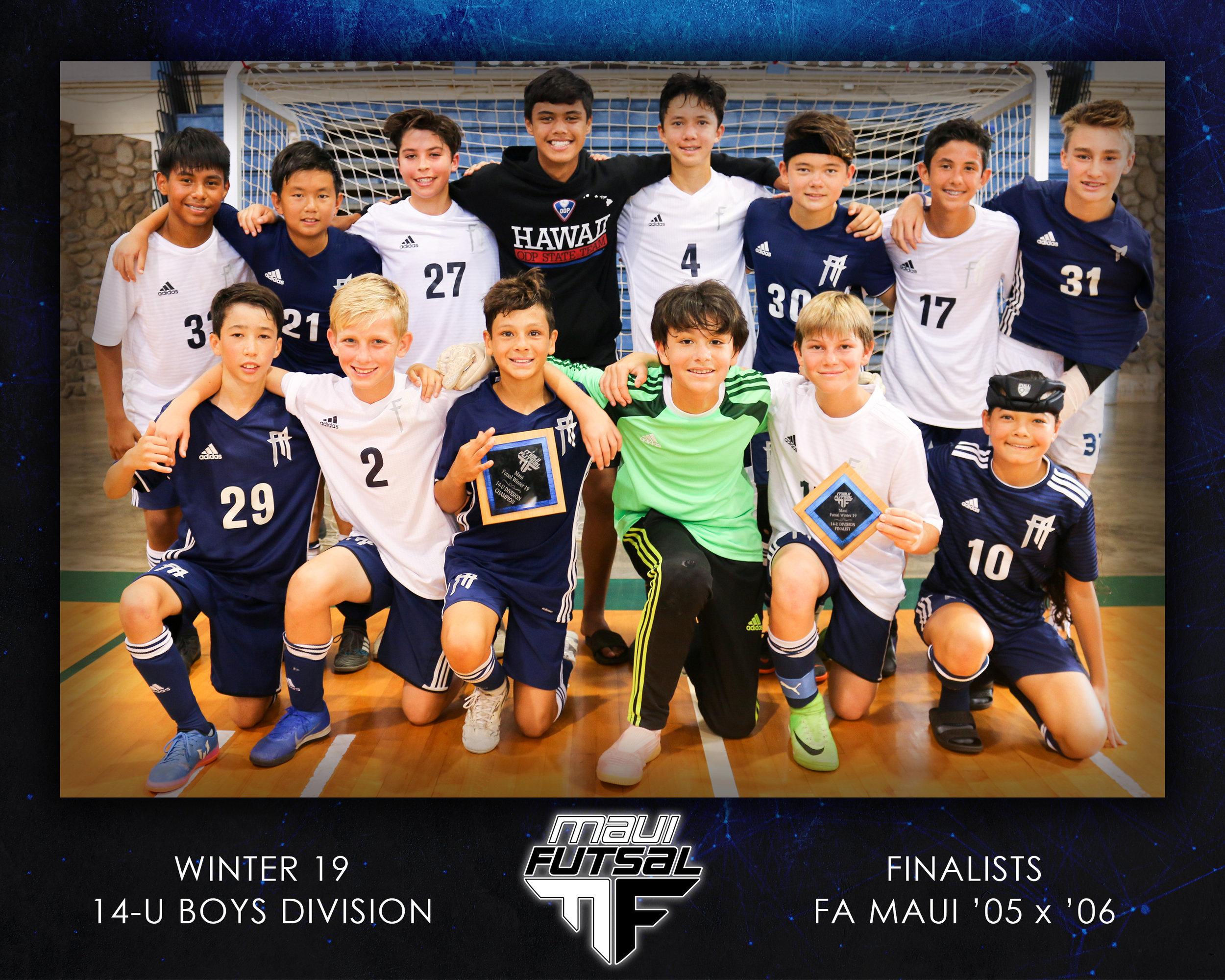 CHAMPIONS: FA Maui '06 Boys | RUNNER-UP: FA Maui '05 Boys