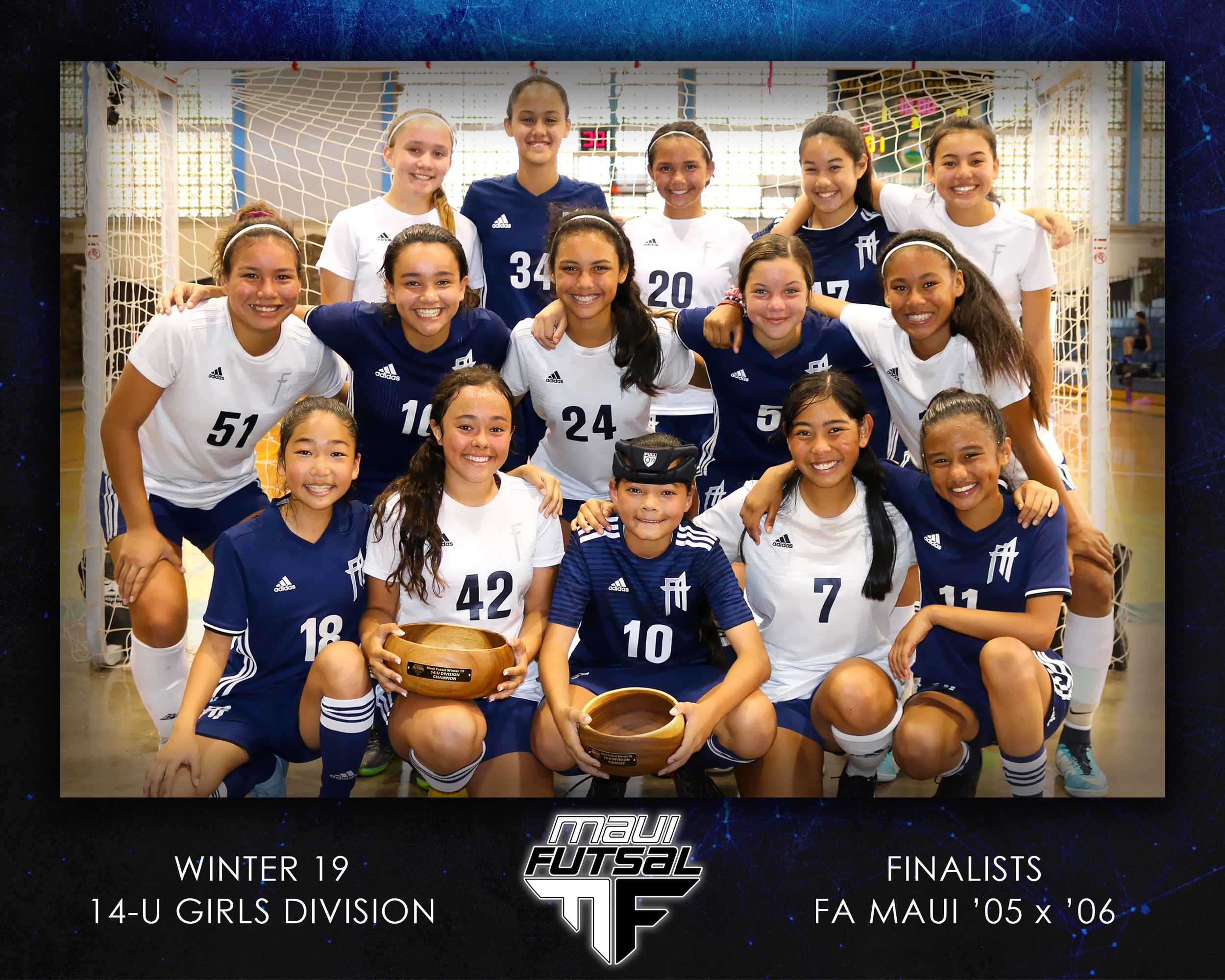 CHAMPIONS: FA Maui '05 Girls | RUNNER-UP: FA Maui '06 Girls