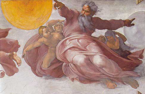Michelangelo's vision of the Divine: stern, decisive, and most definitely male