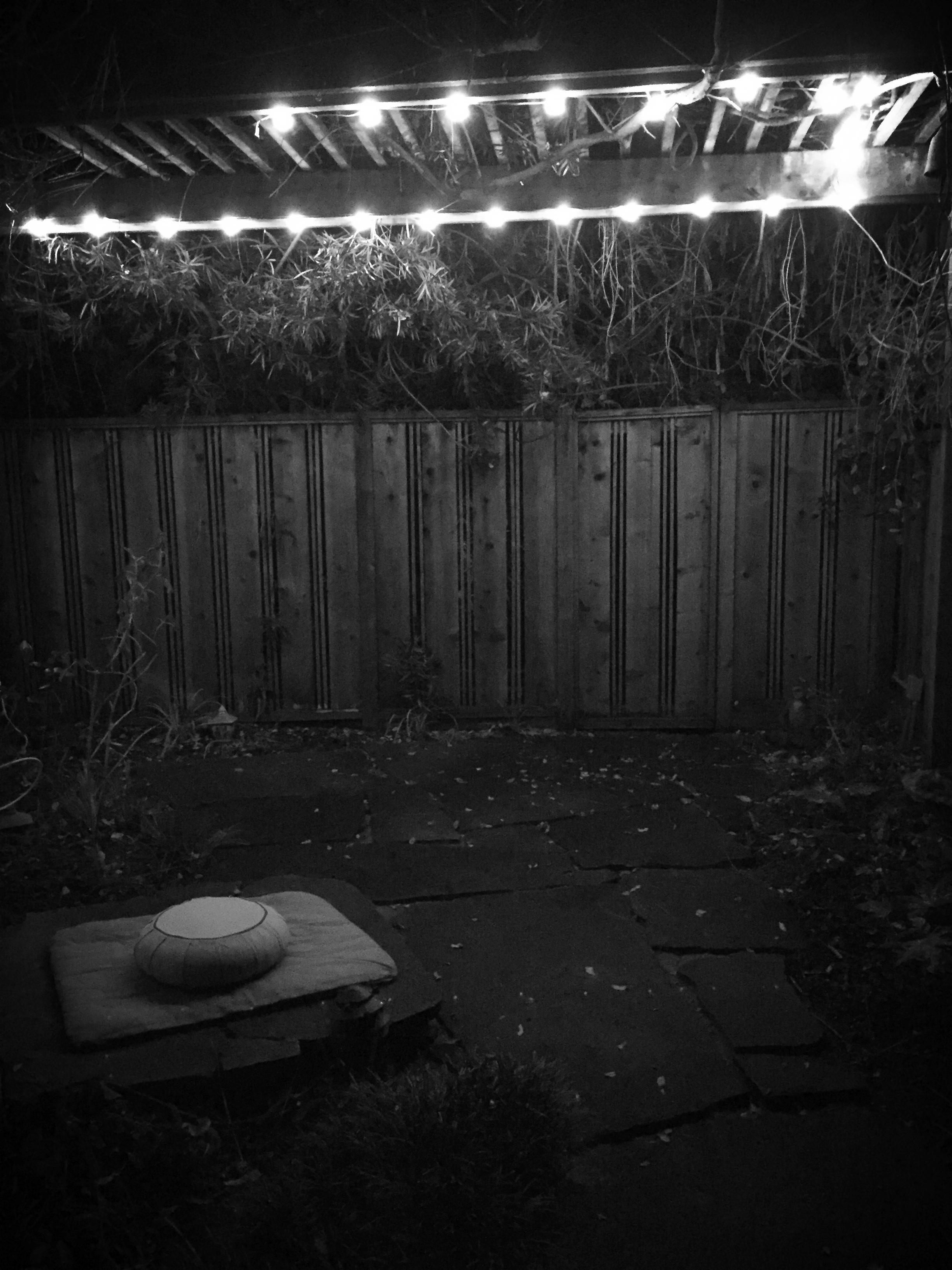 My quiet place in the dark.