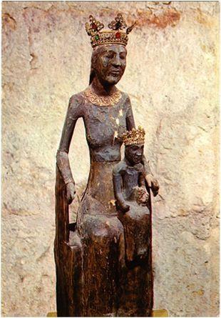 The Black Madonna of Rocamadour, France