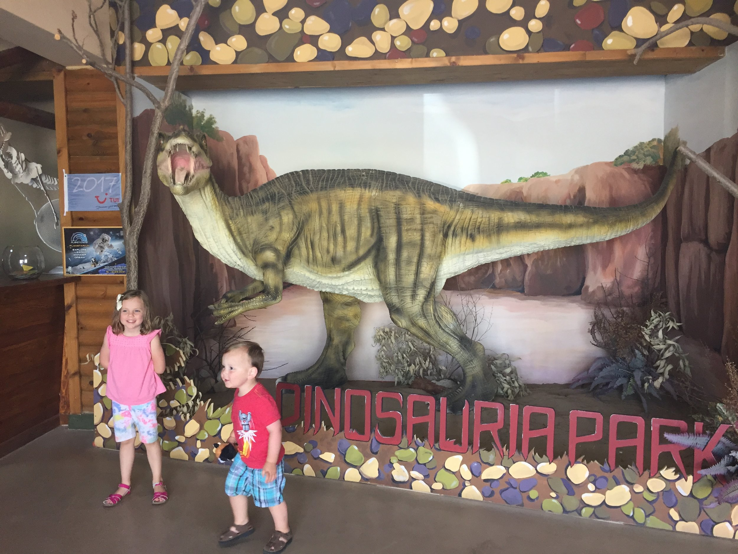 Dinosaur theme park first...