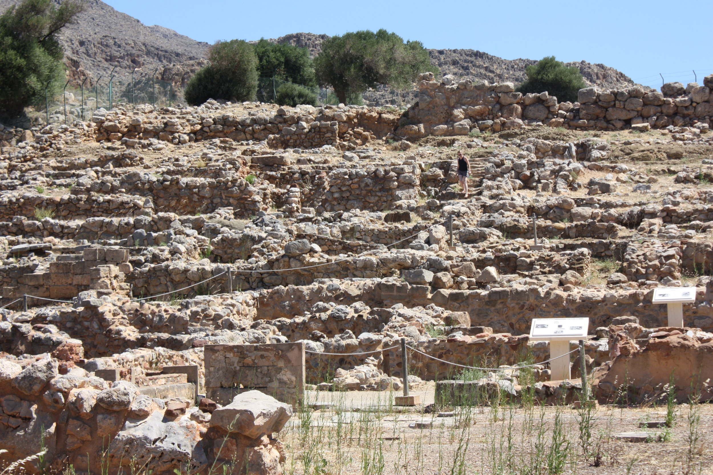 Exploring the ruins of Zakros Palace